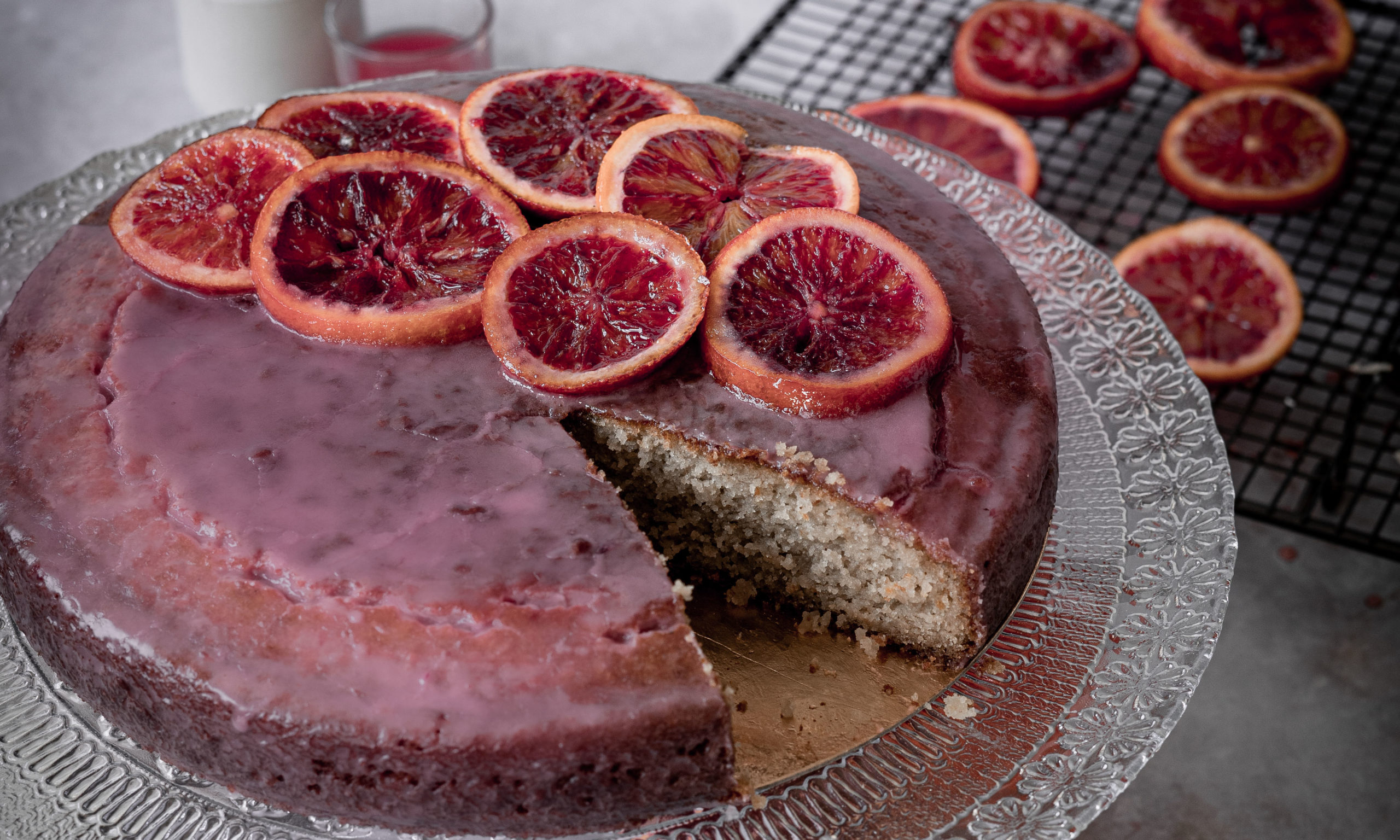 orange blood cake